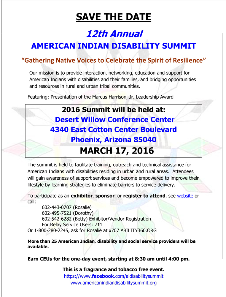 12th-Annual-American-Indian-Disability-Summit-3-17-16